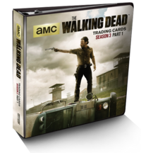 The Walking Dead Season 3 Trading Cards Part 1 binder