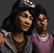 Clem and Sarah BFFs