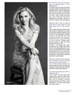 Emily Kinney on Glamoholic black and white sitting