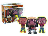 Previews Exclusive The Walking Dead Michonne & Glow in the Dark Pet Zombies Pop! Vinyl Figure 3 Pack by Funko