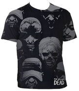 "THE WALKING DEAD ""WALKER FACES"" T-SHIRT"