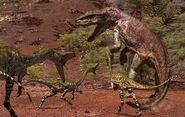 Postosuchus et Coelophysis