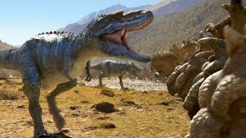 'Gorgosaurus Attacks' WALKING WITH DINOSAURS Film Clip 2