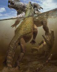 Lystrosaure et Proterosuchus