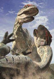Combat Allosaurus