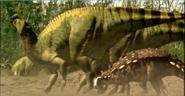 Europeon iguanadon with polocanthus