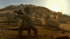 Edaphosaurus herd fading writing, WWMEP02