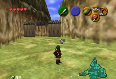 Cucco Round-Up in Kakariko Village in Ocarina of Time | Walkthrough
