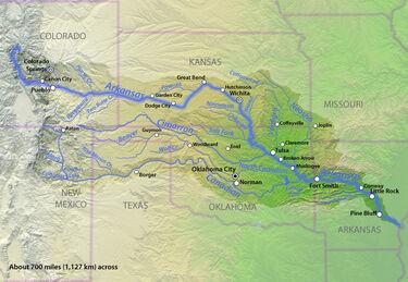 Arkansasrivermap