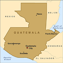 Guatemala City Archives Driving Directions And Maps Map Of - Where is guatemala located