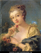 Young-Woman-With-A-Bouquet-Of-Roses-large