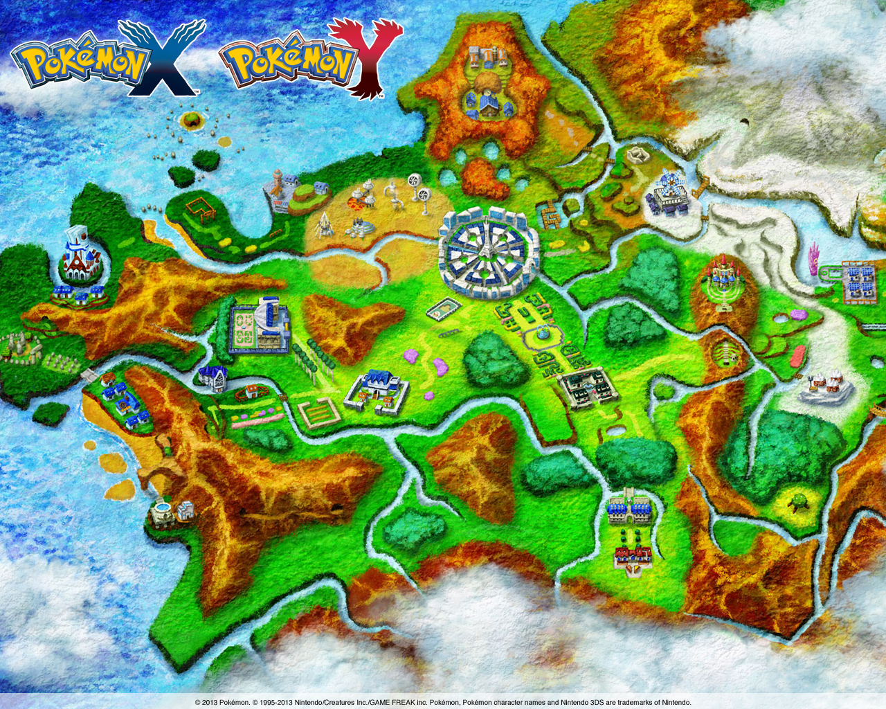 Pokemon X And Y Wallpaper 3 Wallpapers Wiki Fandom
