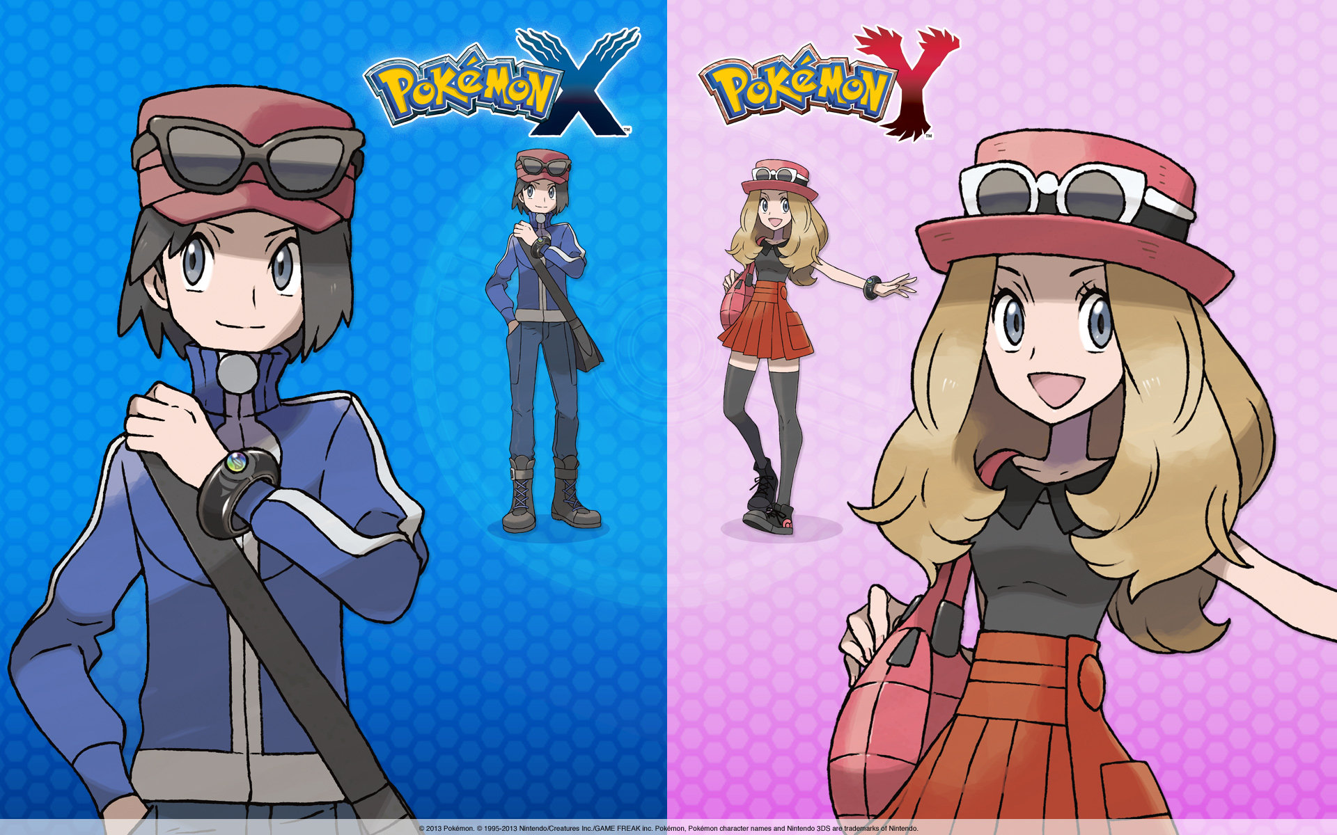 Image boy girl pokemon x and y 1920x1200g wallpapers wiki boy girl pokemon x and y 1920x1200g voltagebd Gallery