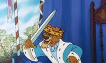 Prince john has his sword