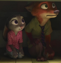 Judy and nick sees at doug is going out
