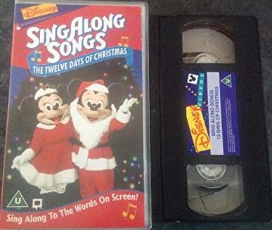 Disney Sing Along Songs Christmas Vhs.Disney S Sing Along Songs Volume 10 The Twelve Days Of