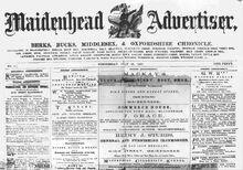 Maidenhead-Advertiser-First-Newspaper-Edition