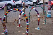 Yarn-bombed-bike-racks