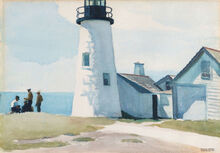 Pemaquid Point Lighthouse, Watercolor by Edward Hopper, 1926