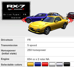 rx7 fd factory colors