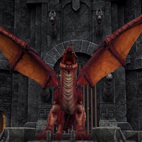 Draco roaring