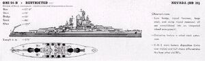 Nevada class battleship line drawing