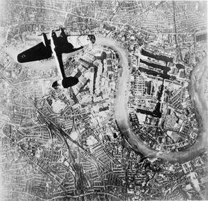 Heinkel He III over London 7 Sep 1940