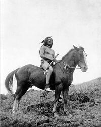 Nez Perce warrior on horse