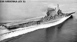 USS Saratoga-end of WWII