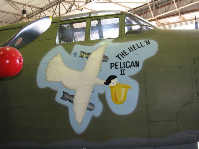 File:The Helln Pelican II nose art.JPG