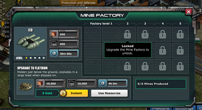 Locked - mine factory