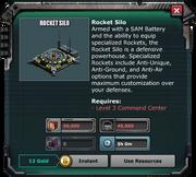 RocketSilo-Building Requirements