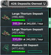 Thorium-Deposit-Owned-Dropdown