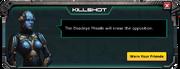 Deadeye Missile - Level 10 Message