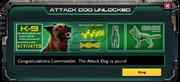 AttackDog-UnlockMessage