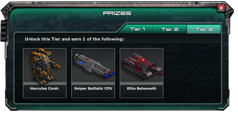 War commander archangel prizes for mega