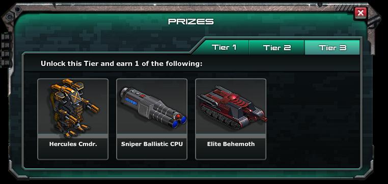 War commander archangel prizes for mega