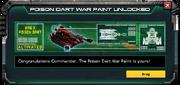 Poison Dart War Paint Unlock Message