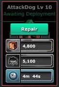 AttackDog-Lv10(Barracks-Lv10)-Repair