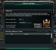 Alliance Manager Menu