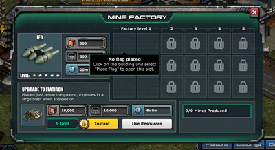 No flag placed - mine factory