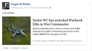 Facebook post elite warhawk