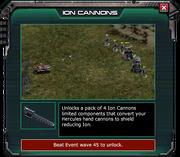 IonCannons-EventShop Description