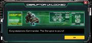 Disruptor-UnlockMessage