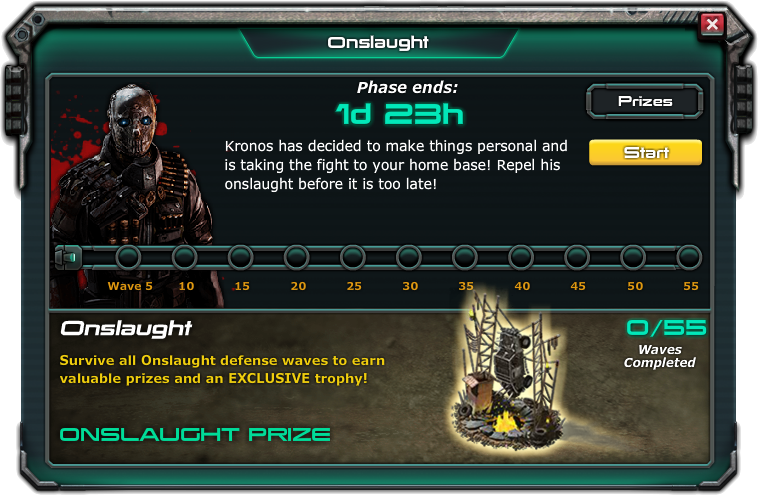 Onslaught war commander prizes for students