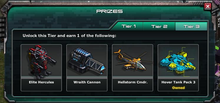 Hellstorm war commander prizes