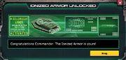 Ionized armor unlock