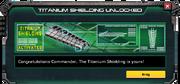 Titanium Shielding - Unlock Message