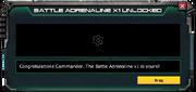 BattleAdrenaline-UnlockMessage