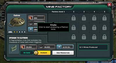 Empty mine factory